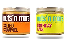 Nuts \'N More High Protein 2 Pack (16 oz each): Birthday Cake PB & Salted Caramel PB