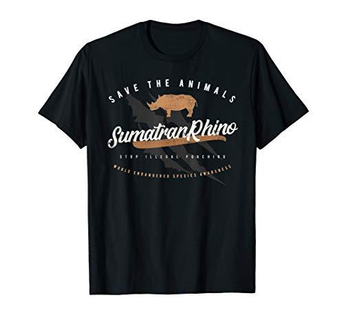 Sumatran Rhino - Endangered Animals T-shirt