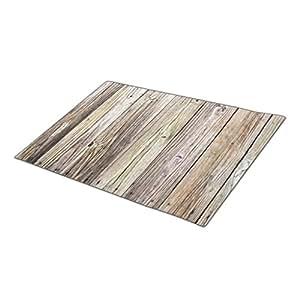 wyd-a rústico madera interior piso Mats en blanco un tamaño Natural Patina