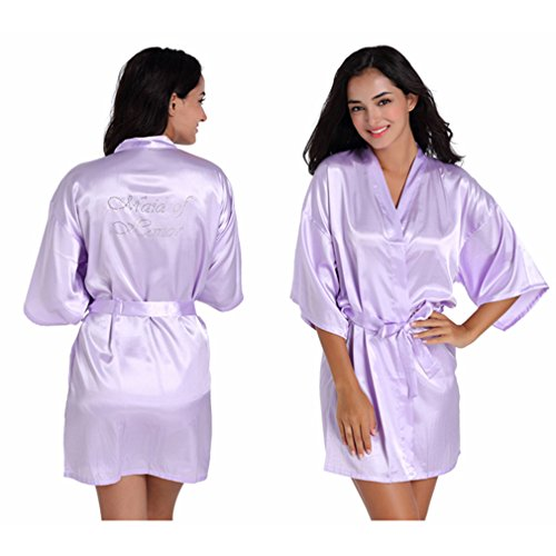 BOYANN Chiaro Notte e Cristallo Damigella d'onore e Vestaglie Kimono Camicie da Pigiami Viola wrqxwFv7