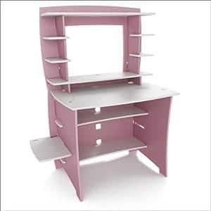 Amazon Com Legare 36 Inch Kids Desk And Hutch Pink White