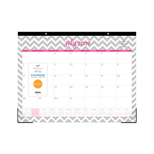 Dabney Lee for Blue Sky 2019-2020 Academic Year Monthly Desk Pad Calendar, Ruled Blocks, 22