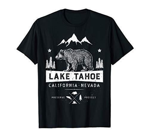 Lake Tahoe T Shirt California Nevada Vintage Bear Men Women