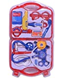 GN Kids Doctor Nurse Carry Case Medical Kit Play Set Role Play Toy Best Gift (Red)