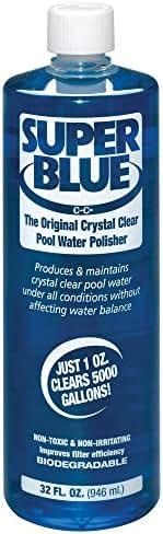 Robarb R20154 Super Blue Clarifier 1-Quart Crystal Clear Pool Water Polisher