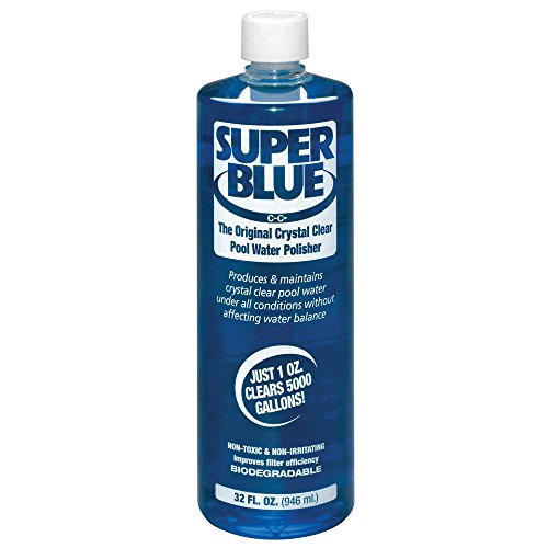 - Robarb R20154 Super Blue Clarifier 1-Quart Crystal Clear Pool Water Polisher