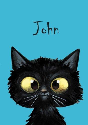John - Coloring Book / Notebook / Diary - DIN A5 - cat – blank pdf