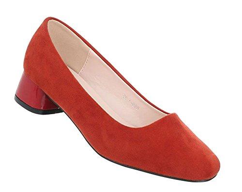 Schuhcity24 Damen Schuhe Pumps Bequeme Rot