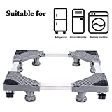 LUCKUP Multi-functional Movable Adjustable Base with 4 Locking Rubber Swivel Wheels and 8 Strong Feet Size Adjustable Universal Mobile Case Roller Dolly for Dryer, Washing Machine and Refrigerator