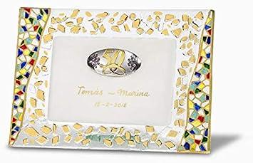 Sadurní-Ràfols Placa Conmemorativa Bodas de Oro Gaudí White