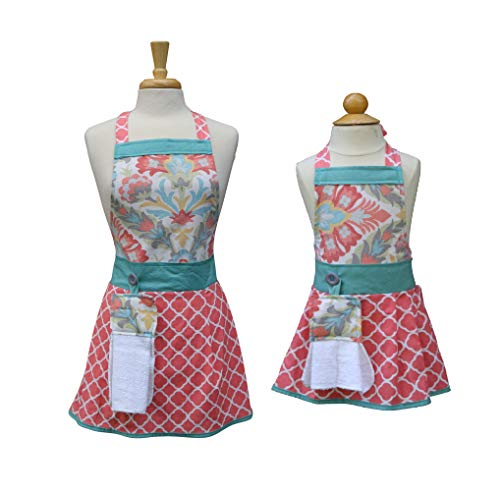 Mom Daughter aprons, Mother Daughter matching aprons, Mommy Daughter apron set, The Bedford Life, Kids/Girls S M L (Age 2-13), Kitchen aprons, cooking aprons, baking aprons ()