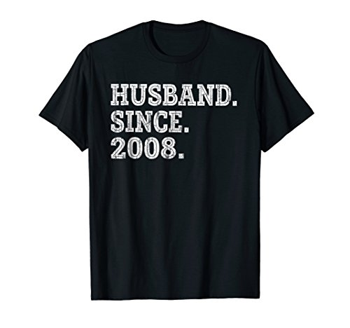 10th Wedding Anniversary Gifts - Husband Since 2008 Shirt by Wedding Anniversary Gift Shirts for Mens (Image #2)