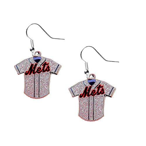 MLB New York Mets Ladies Glitter Jersey (Glitter Womens Jersey)