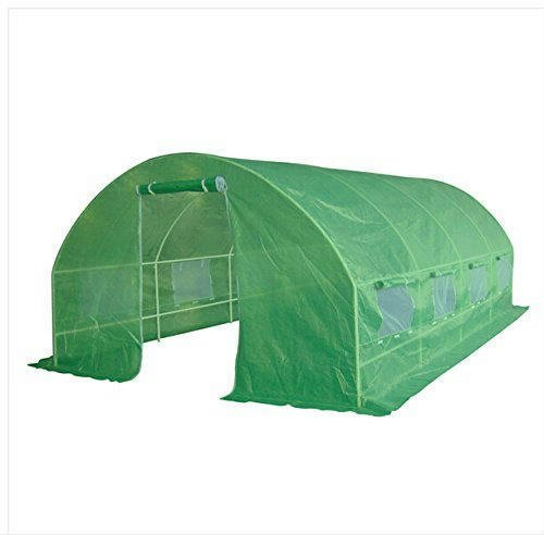 Quictent 2 Doors 20 Stakes Heavy Duty 20'x10'x7' Portable Greenhouse Large Walk-in Green Garden Hot House 8 vents + 2 doors Flow-through Ventilation by Quictent