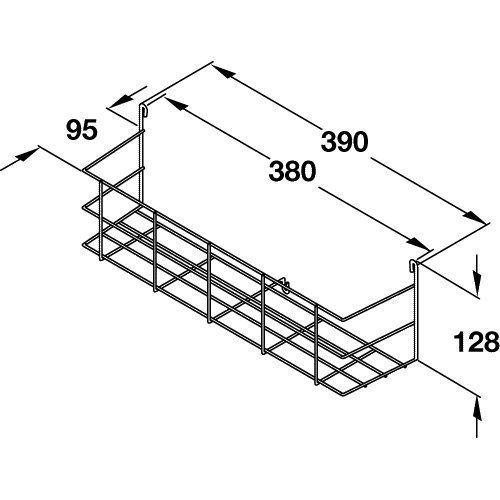 Suki Hardware Single Tier Door Mounted Storage Rack By Hafele