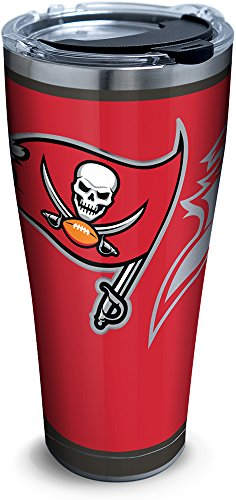 (Tervis 1299911 NFL Tampa Bay Buccaneers Rush Stainless Steel Tumbler 30 oz,)