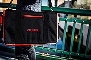 Aiwa Exos 9 Portable Bluetooth Speaker Black Carrying Case Travel Bag Protect