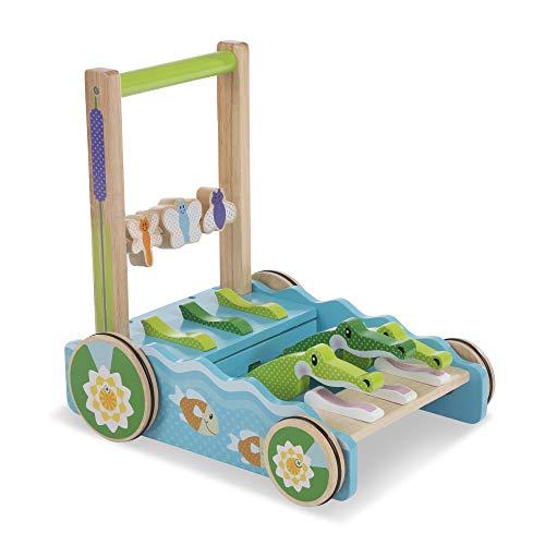 "Melissa & Doug First Play Chomp & Clack Alligator Push Toy (Developmental Toy, 15"" H x 15"" W x 11.75"" L) ()"
