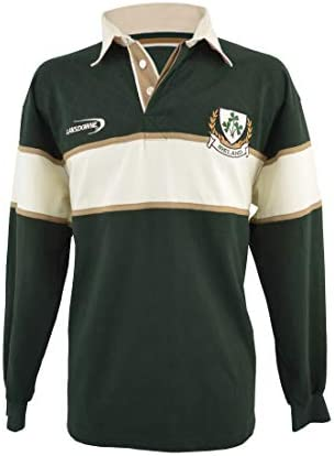 Hombres Trébol Camisa De Manga Larga De Rugby: Amazon.es: Deportes ...