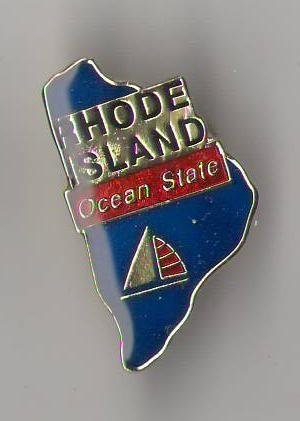 State Shaped Pin, Hat, Tie, Lapel, Etc. All States Available (Rhode Island) (Island Pin Lapel Rhode)
