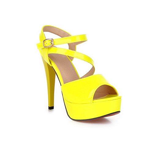 Adee - Sandalias de vestir para mujer amarillo