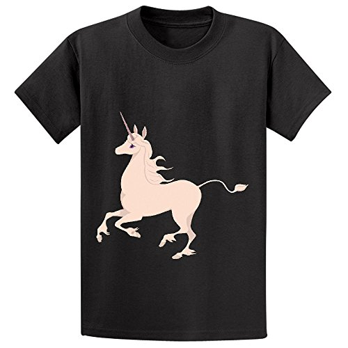 Price comparison product image Snowl The Last Unicorn Cute Kid's Crew Neck Print Tee Black