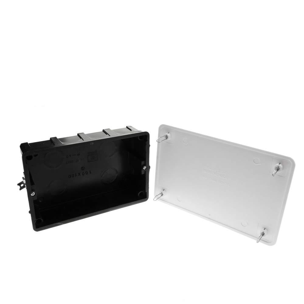 BeMatik Caja empotrada de Registro con Tapa Pared Hueca 200x200x60 mm