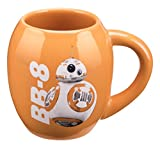 Vandor 55100 Star Wars: The Force Awakens BB-8 18 Ounce Oval Ceramic Mug, Orange