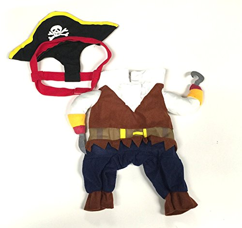 Midlee Pirate Fake Arms Costume for Small Dogs -