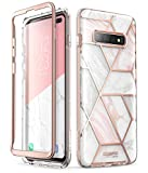 Samsung Galaxy S10 Plus Case, i-Blason [Cosmo] Stylish Glitter Protective Bumper Case Without Built-in Screen Protector for Galaxy S10 Plus 2019 Release (Marble)