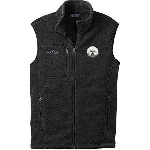 Cherrybrook Dog Breed Embroidered Mens Eddie Bauer Vest - X-Large - Black - Bichon Frise (Bichon Frise Vest)
