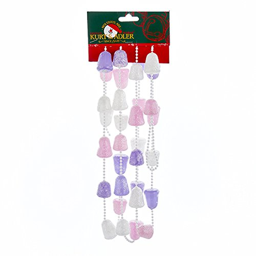 Kurt Adler PINK, PURPLE AND WHITE GLITTERED GUM DROP GARLAND (Gum Tree Drop)