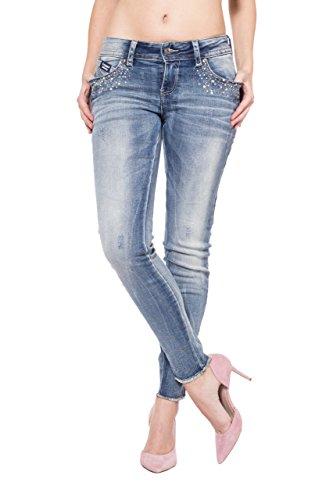 Blue Monkey Jeans - Jeans - Uni - Femme Bleu