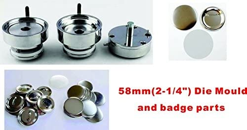 58mm 2-1//4 Interchangeable Mould Button Maker Badge Material KIT