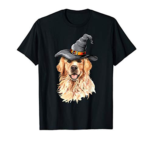 Golden Retriever Halloween Costumes Shirt Gifts Funny Dog T-Shirt -
