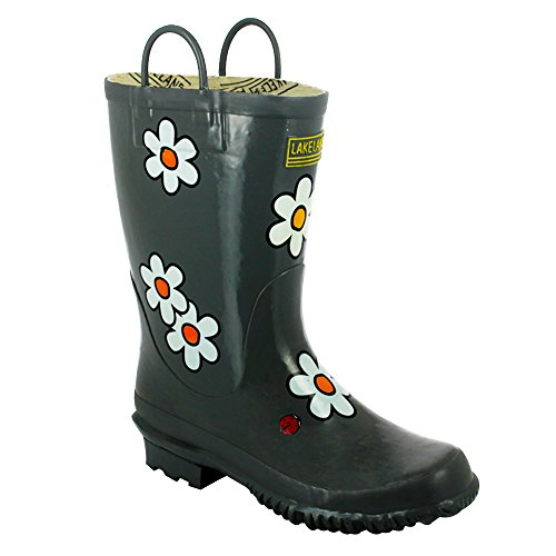 Lakeland Grey Natural Rubber Short Handle Wellington Boots YMCRvO09
