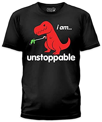 Extrêmement Amazon.com: Unstoppable T-Rex T-Shirt: Clothing VW19