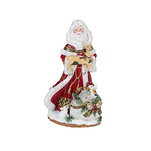 Fitz and Floyd Yuletide Holiday Collection, Santa Musical Box