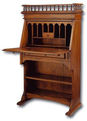 Amazoncom Laurel Crown Narrow Colonial Drop Front Secretary Desk
