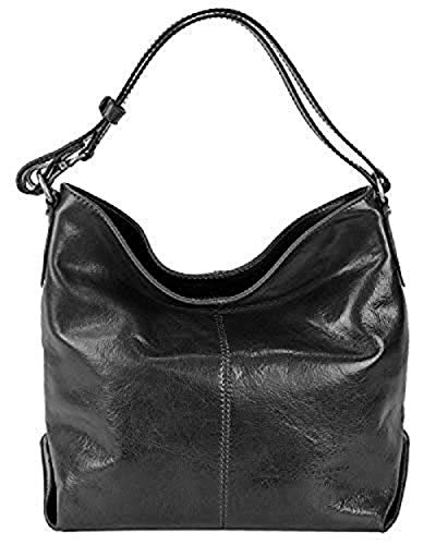 - Cuoieria Fiorentina Italian Leather Hobo Handbag (Black)