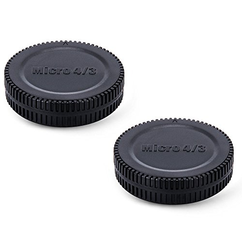 (2-Pack) JJC Body Cap and Rear Lens Cap Kit for Micro 4/3 DSLR Cameras + Micro 4/3 Mount Lenses