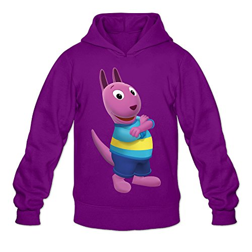 The Backyardigans Austin Men's Long Sleeve Hoodie Purple