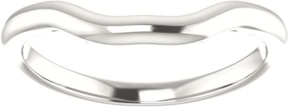 Size 7 Bonyak Jewelry Sterling Silver Band for 9 mm Asscher Ring