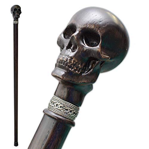 - Fancy Carved Walking Cane for Men - Skull - Stylish Wooden Men's Knob Canes and Walking Sticks Fashionable