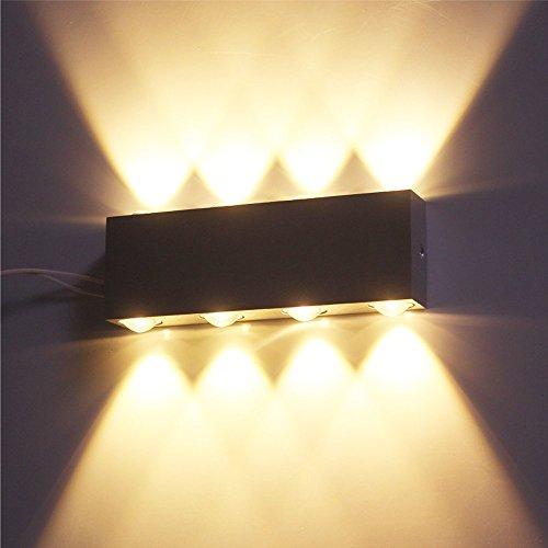 VINGO® 8W Wandlampen LED Warmweiß Aluminum Design up down Beleuchtung Wandleuchte Innenleuchte