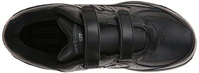 New Balance Men's MW577 Leather Hook/Loop Walking Shoe,Black,10.5 D US