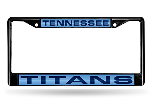 (Rico Industries NFL Tennessee Titans Laser Cut Inlaid Standard Chrome License Plate Frame, 6