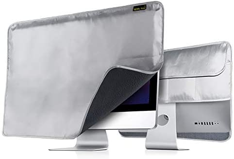 Monitor Dust Cover & iMac Cover 27 inch,Non-Woven Antistatic PC Computer Monitor Case Screen ProtectorScreen Protector (Models A1862, A1419, A1312) iMac for 25 inch - Silver