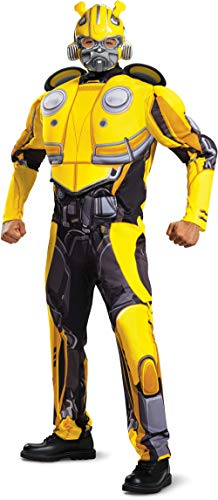 Disguise Men's Bumblebee Movie Classic Muscle Adult Costume,