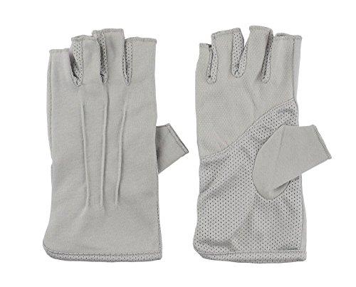 Men Fashion Summer Driving Gloves Touchscreen UV Driving Gloves Sun Light Weight Driving Gloves Grey